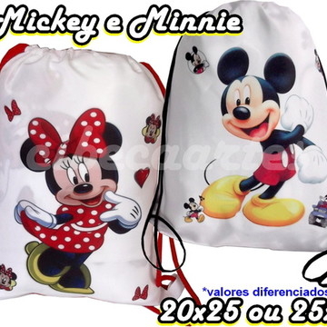 Mochila Minnie ou Mickey lembrancinha