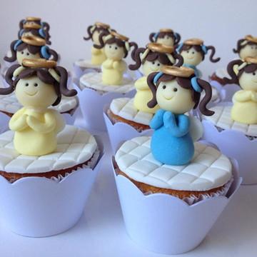Cupcakes de Anjinho para Batizado