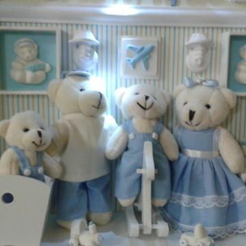 Cenário Urso - irmão,bebê no berço c led