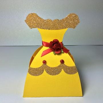 caixa vestido em scrap