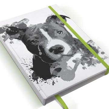 Caderno Cachorro Pitbull A5 Personalizado