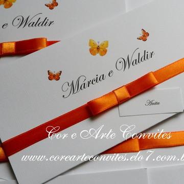 Convite de Casamento Borboletas