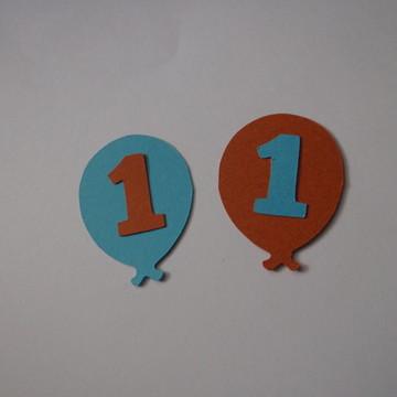 Tag Balão Colorido com letra ou número