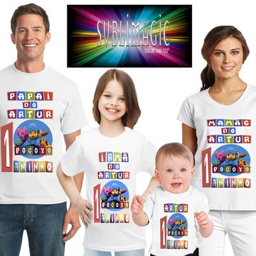 Kit 4 Camisetas Pocoyo