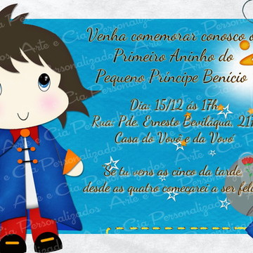 Convite Pequeno Príncipe Moreno