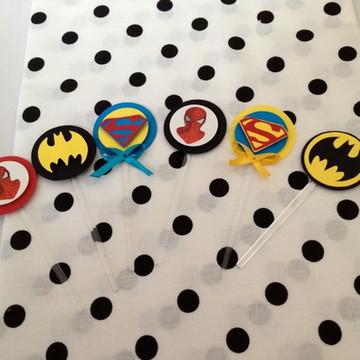 Espetinho personalizado Super Heróis