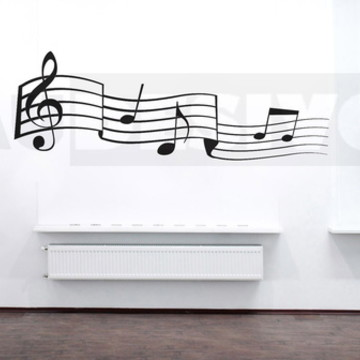 Adesivos decorativos de nota musical