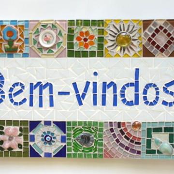 Painel de Boas Vindas em mosaico