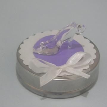 latinha sapato de salto lilás