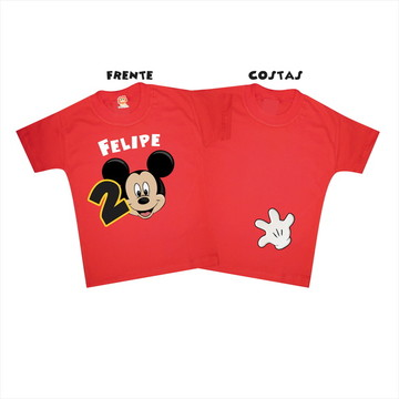 Body ou Camiseta Infantil Mickey