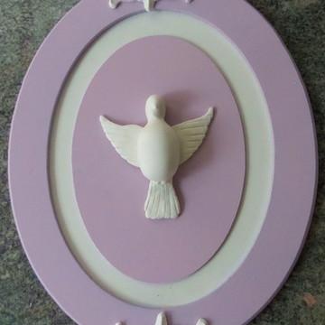Enfeite Placa Oval Divino Espirito Santo