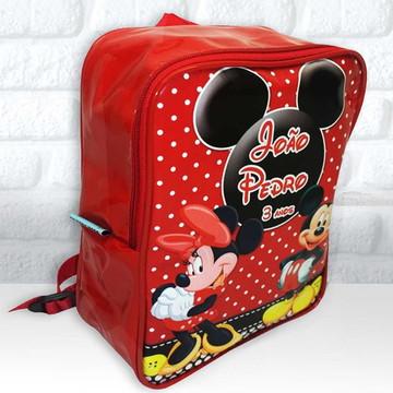 Mochila G Tema Mickey e Minie
