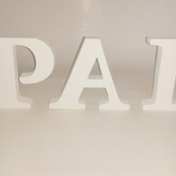 Letras de Mdf pintado