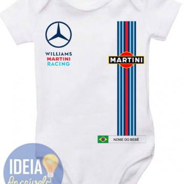 Body Infantil Corrida F1 Williams Martin