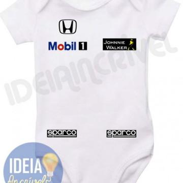Body Infantil Corrida F1 Equipe Mclaren