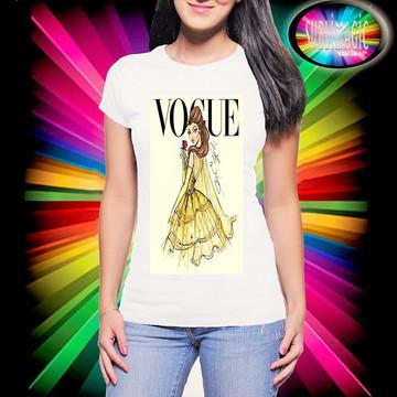 Camiseta Vogue Princesa Bela