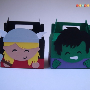 Vingadores - Caixa surpresa Thor e Hulk
