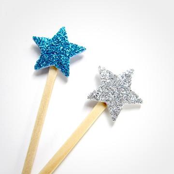 Pick Estrela Glitter Astronauta