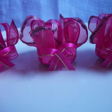 Forma de doces finos em tecido pink