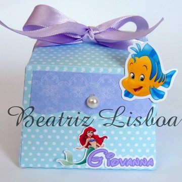 Pequena Sereia - Caixa Personalizada