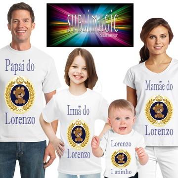 Kit 4 Camisetas Ursinho Príncipe