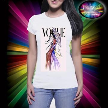 Camiseta Vogue Princesa Mulan