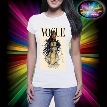 Camiseta Vogue Princesa Pocahontas
