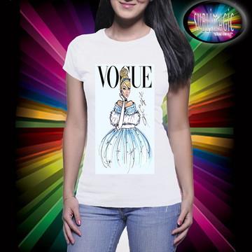 Camiseta Vogue Princesa Cinderela