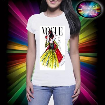 Camiseta Vogue Branca de Neve