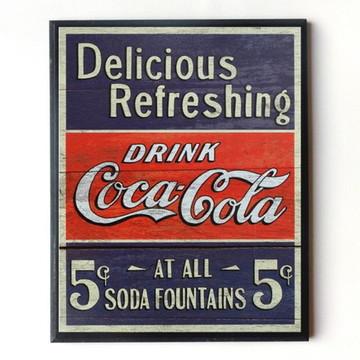 Quadro Coca cola vintage delicious 01