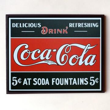 Quadro Coca cola vintage (delicious 02)