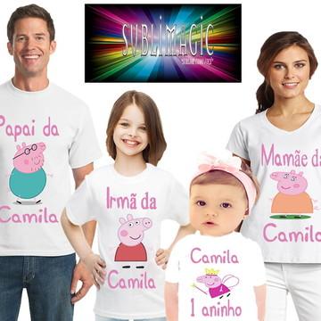 Kit 4 Camisetas Pig