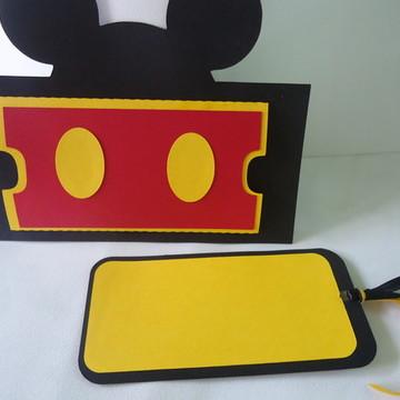 Convite aniversario Mickey