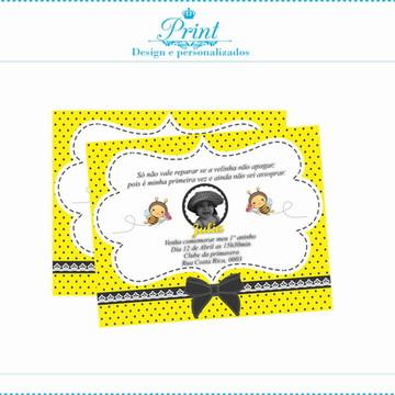 Convite Digital Abelhinha com foto