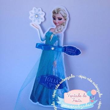 Convite de aniversário Elsa Frozen