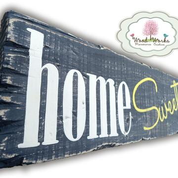 Placa Retrô home Sweet home