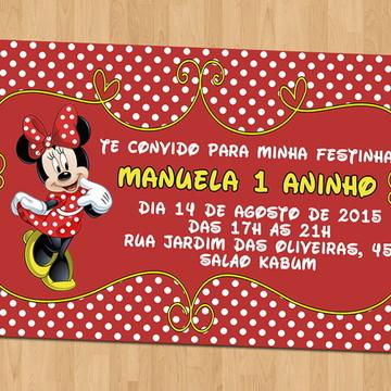 Convites - Aniversário Tema Minnie