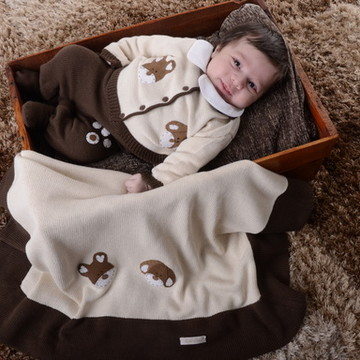 Saída de Maternidade Urso Marrom