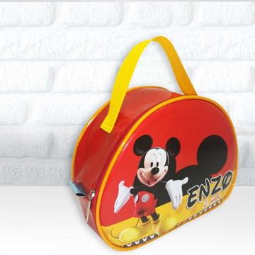 Maletinha Oval tema Mickey e Minie