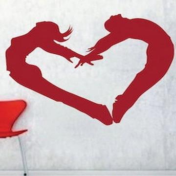 Adesivo Coração de casal