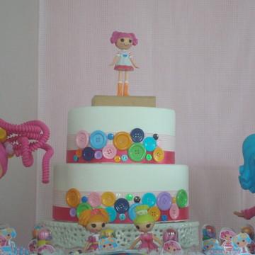 Aluguel de bolo falso tema Lalaloopsy