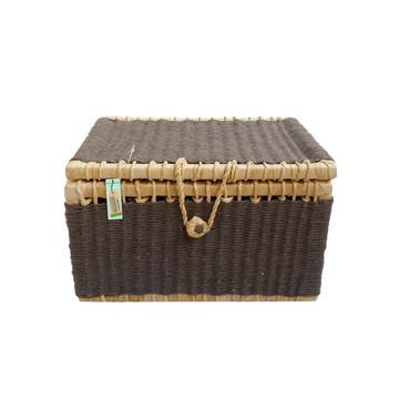 Caixa De Palha De Milho E Barbante Argila 34x26x20