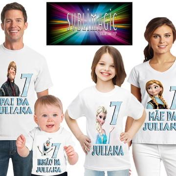 Kit 4 Camisetas Frozen 1