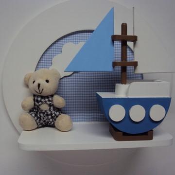 Quadro maternidade urso marinheiro