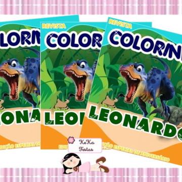 Revista Colorir Dinossauro