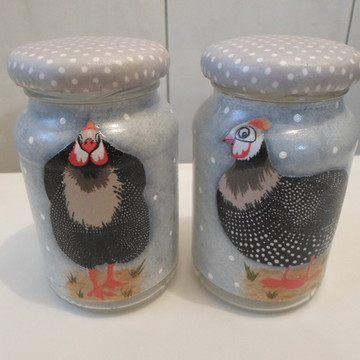 Kit de potes galinha de angola