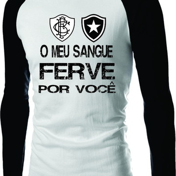 72a97006cb Camiseta Botafogo Raglan Manga Longa Fog