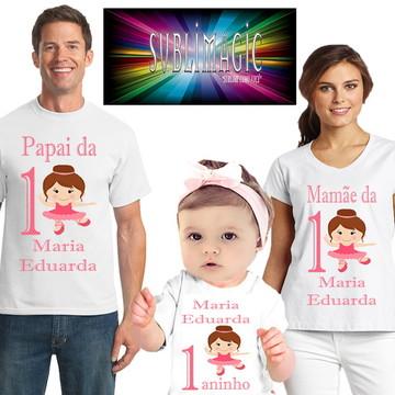 Kit 3 Camisetas Bailarina