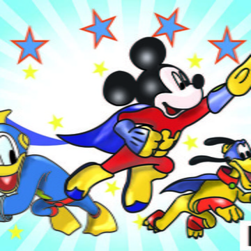 Painel Mickey super heroi