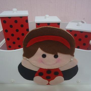 Kit higiene Joaninha Baby Vermelho